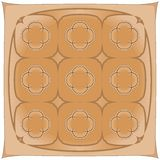 Brown handkerchief Royalty Free Stock Image