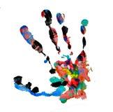 Brown handprint Royalty Free Stock Image