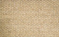 Brown-Hanfteppich, Wolldeckenbeschaffenheitshintergrund, bereit zur Produktanzeige Lizenzfreie Stockfotografie