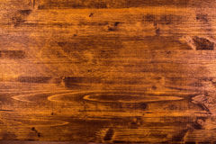 Brown hardwood board surface Royalty Free Stock Photography