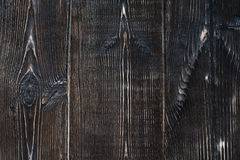 Brown hardwood planks. Hardwood planks. Front full frame view Royalty Free Stock Images