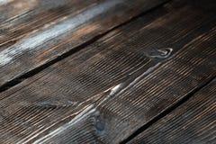 Brown hardwood planks Stock Photo