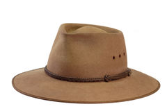 Brown Hat. Isolated on white background Stock Photo