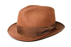 Brown hat. An isolated photo of a woman brown hat Royalty Free Stock Images