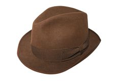 Brown hat. An isolated photo of a woman brown hat Stock Photography