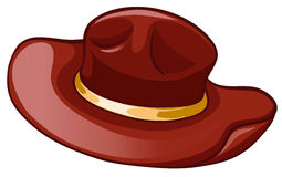A brown hat Royalty Free Stock Image
