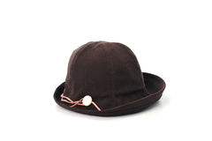 Brown hat isolated on white background Royalty Free Stock Images