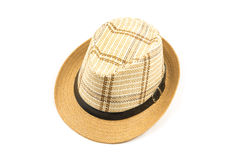 Brown hat isolated on white background Royalty Free Stock Photos