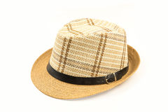 Brown hat isolated on white background Royalty Free Stock Image