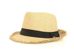 Brown hat. For traveling isolated on white Stock Photos