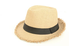 Brown hat. For traveling isolated on white Stock Photo