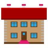 Brown-Haus Lizenzfreie Stockbilder