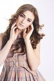 Brown healthy hair Royalty Free Stock Photography