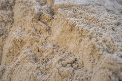 Brown heap of sand material for constructing. Or the kindergarten playground Stock Image
