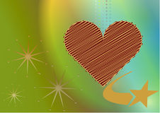 Brown  heart Stock Images