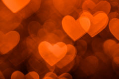 Brown heart shape holiday background Stock Photography