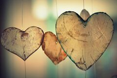 Brown Heart Shaped Hanging Decor Royalty Free Stock Photography
