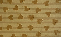 Brown hearts Stock Image