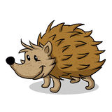 Brown Hedgehog cartoon. Vector illustration Stock Photo