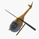 Brown helicopter toy at flight illustration Royalty Free Stock Images