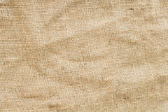 Brown hemp fabric texture background Royalty Free Stock Image