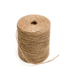 Brown hemp rope roll Royalty Free Stock Images
