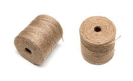 Brown hemp rope roll Stock Images