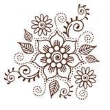 Brown Henna Flower Pattern Spiritual Illustration 1 Immagine Stock Libera da Diritti
