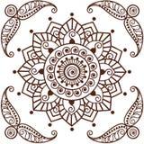 Brown Henna Flower Pattern Spiritual Illustration 2 Immagini Stock Libere da Diritti