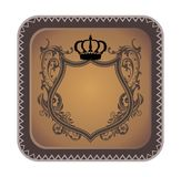 Brown heraldic art Royalty Free Stock Photography