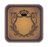 Brown heraldic art Royalty Free Stock Photography