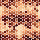 Brown Hexagonal Pattern Stock Images