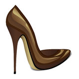Brown High Heel Royalty Free Stock Image