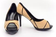 Brown high heel Stock Photo