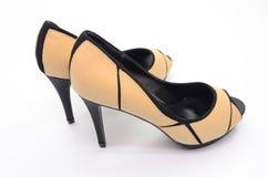 Brown high heel Stock Images