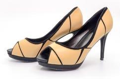 Brown high heel Royalty Free Stock Photos