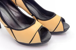 Brown high heel Royalty Free Stock Photography