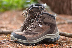 Brown hiking boots i Stock Photos