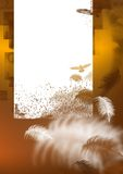 Brown-Hintergrund mit Feder Stockfotos