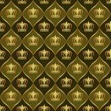 Brown-Hintergrund mit Kronen Lizenzfreie Stockfotografie