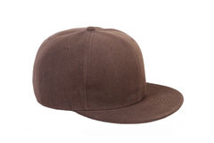 Brown hip-hop rap cap Royalty Free Stock Photos