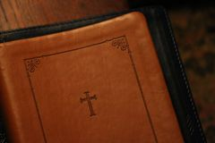 Brown Holy Bible Royalty Free Stock Photo