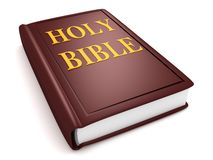 Brown holy bible book. 3d Stock Images