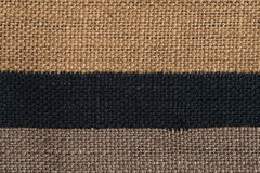 Brown horizontal fabric textures Stock Images