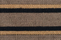 Brown horizontal fabric textures Stock Photography