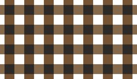 Brown horizontal Gingham pattern.Texture from rhombus for - plaid, tablecloths, clothes, shirts, dresses, paper, bedding, blanket. S, quilts and other textile stock illustration