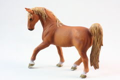 Brown Horse figurine toys Royalty Free Stock Photo