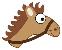 Brown horse head hitching Stock Images
