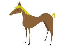 Brown horse. Illustration of a stylized brown horse Stock Photography