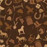Brown horse theme icons seamless pattern eps10 Stock Photos